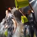 Imagine Dragons' Dan Reynolds takes ice bucket challenge - Dan Reynolds, lead singer of Imagine Dragons took on the ice bucket challenge last night live on …